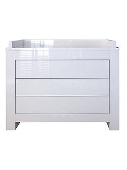 Somero White Glossy Chest by Kidsmill