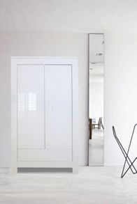 Somero White Glossy Wardrobe 2 Doors