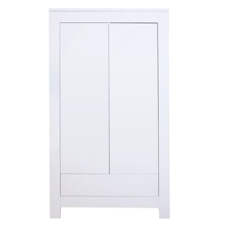 Kidsmill Somero White Mat Wardrobe 2 Doors