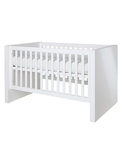 Diamond White Glossy Cot bed 70 x 140