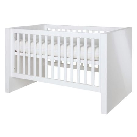 Kidsmill Diamond White Glossy Cot bed 70 x 140