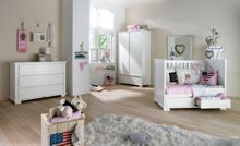 Malmo Pure White Cot 60x120 with Drawers