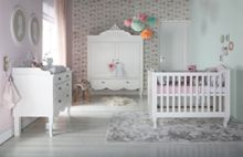 Kidsmill Romance White Brush Cot bed 70 x 140