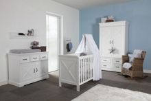 Kidsmill Savona White Cot bed 70 x 140 with cross