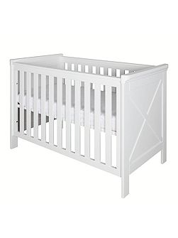 Savona White Cot 60 x 120 with cross