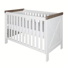 Savona White/grey Cot 60x120 with cross