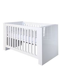 kidsmill somero white glossy cot bed 70 x 140 baby nursery furniture kidsmill malmo white