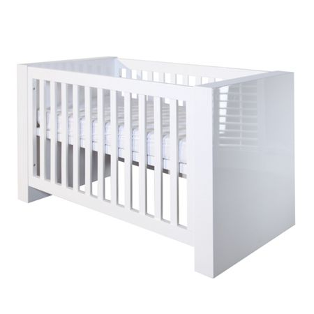 Kidsmill Somero White Glossy Cot bed 70 x 140