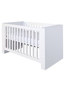 Somero White Matt Cot bed 70 x 140