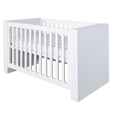 Kidsmill Somero White Matt Cot bed 70 x 140