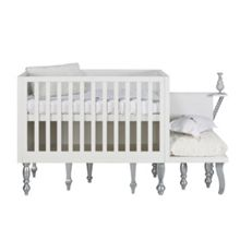 Glamour White/Silver Cot 60 x 120