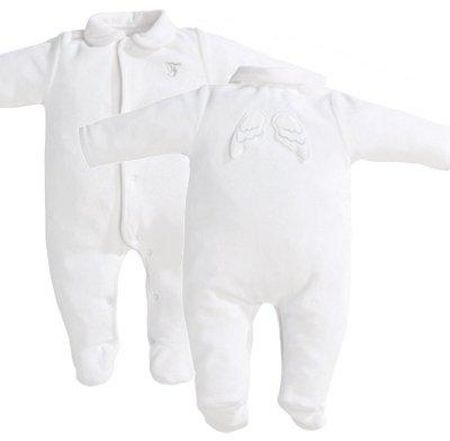 First Angel Wings Romper White