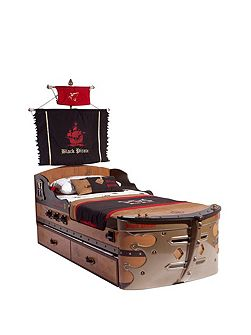 Pirate Ship Bed with Mattress