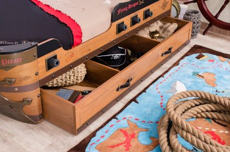 Cilek Pirate Ship Bed with Mattress