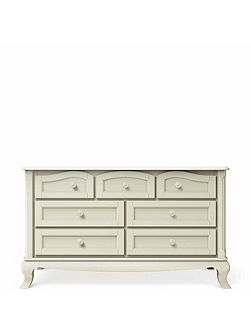 Cleopatra 7 Drawer Chest in Bianco
