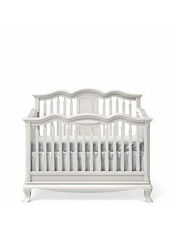 Cleopatra Cotbed to Double Bed White