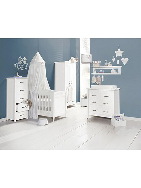 Babystyle chateaux white nursery furniture set house of for White nursery furniture sets uk