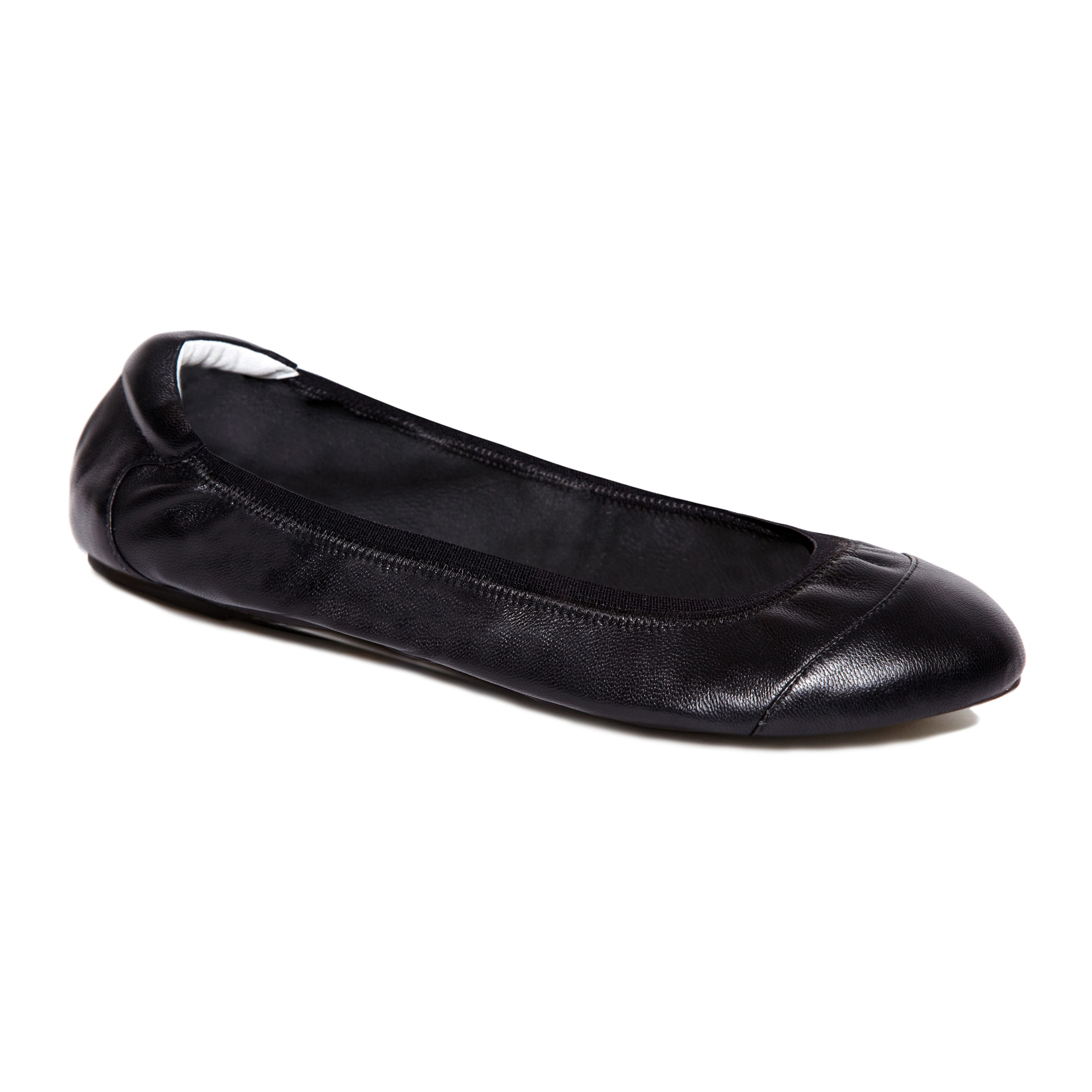 Brixton black leather foldable ballerina