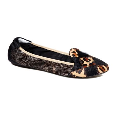 Cocorose London Farringdon leather foldable ballerina