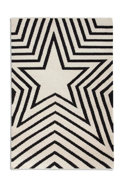 Plantation Rug Co. Freddie 100% Wool Flatweave Rug - 120x170 Black