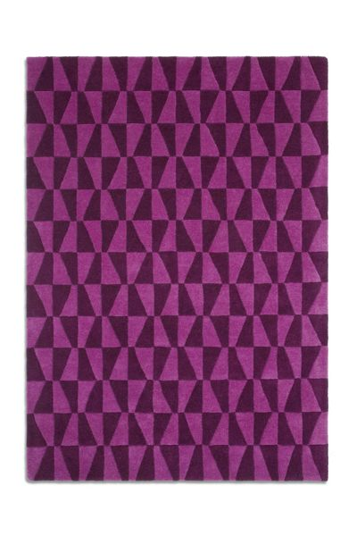 Plantation Rug Co. Geometric 100% Wool Rug - 120x170 Purple/Black