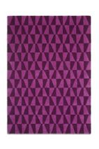 Plantation Rug Co. Geometric 100% Wool Rug - 150x230 Purple/Black