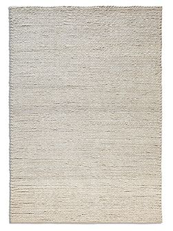 Rope 100% Wool Rug - 70x240 Runner Cream