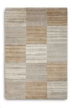 Plantation Rug Co. Simply Natural in Beige Squares 120 x 170