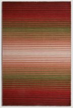 Plantation Rug Co. Undertones rug in Red/Green 120 x 170