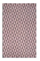 Plantation Rug Co. Geometric 100% Wool Rug - 120x170 Pink/Grey