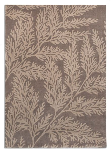 Plantation Rug Co. Leaf 100% Wool Rug - 150x230 Grey/Beige