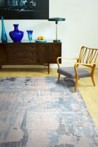 Plantation Rug Co. Bamboozled Bamboo Silk Rug - 160x230 Blue