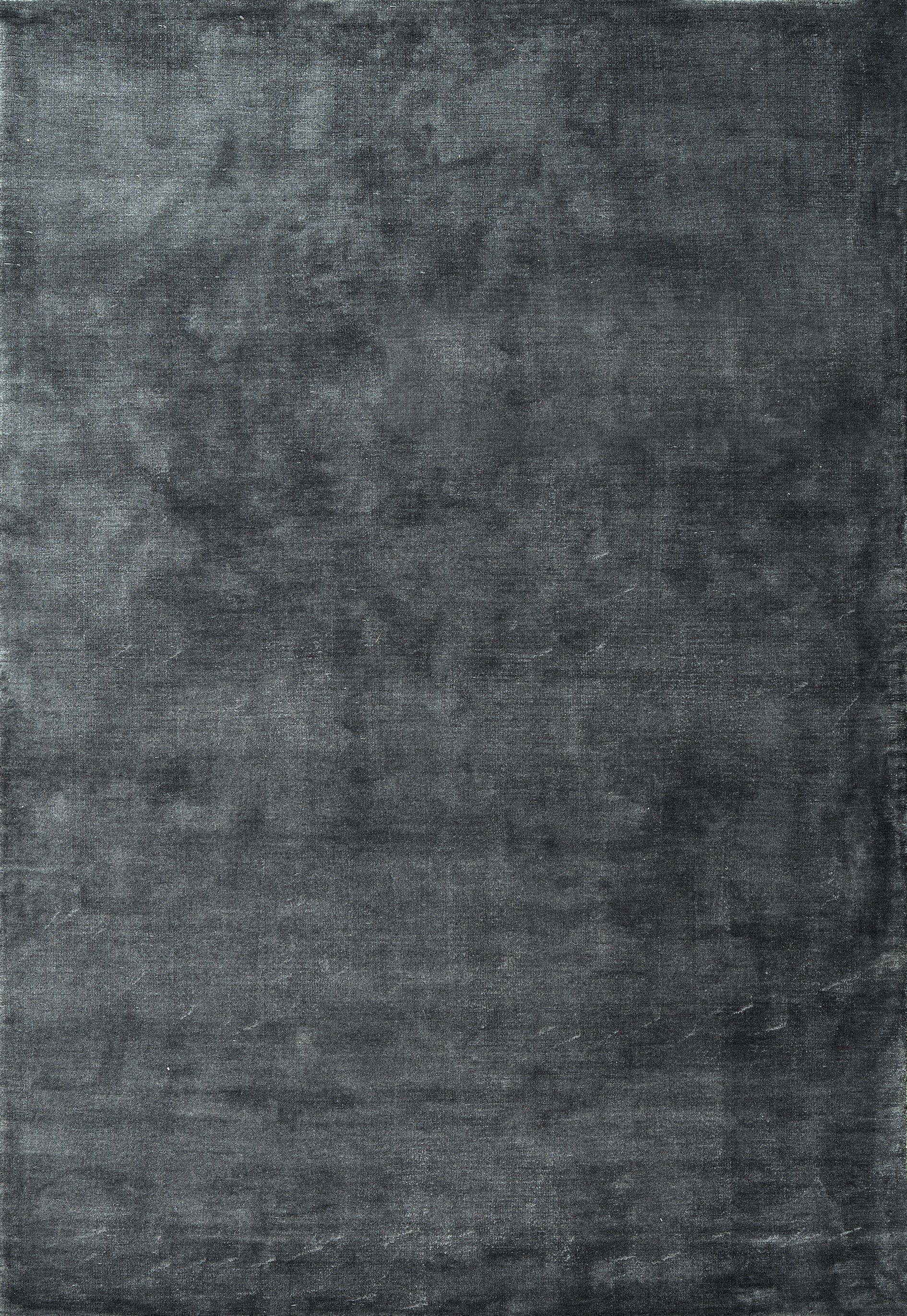 Plantation Rug Co Sade Soft Polyester 80x150 Charcoal 100 00 Bluewater