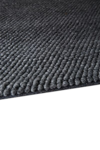 Plantation Rug Co. Loopy Viscose & Wool Rug - 120x170 Tarmac