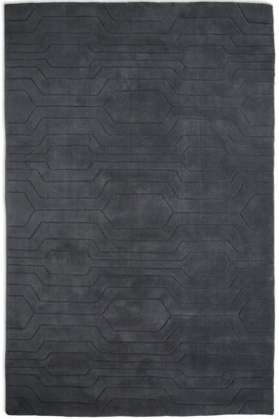 Plantation Rug Co. Circuit 100% Wool Rug - 120x170 Dark Grey