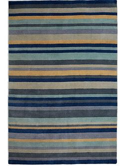 Ainslie Loom Knotted Wool Rug 120x180 Blue/Yellow