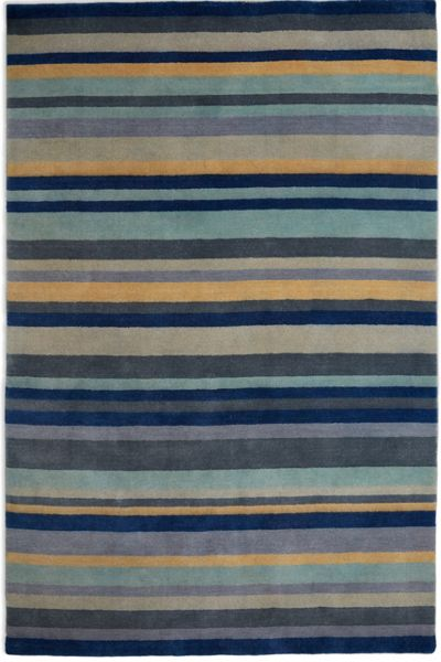 Plantation Rug Co. Ainslie Loom Knotted Wool Rug 120x180 Blue/Yellow