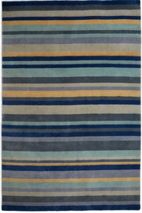 Plantation Rug Co. Ainslie Loom Knotted Wool Rug 180x270 Blue/Yellow