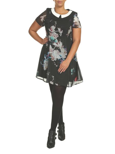 Threads Plus Size Collared Swing Dress
