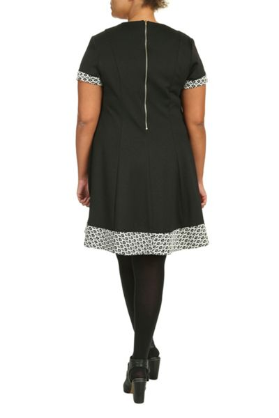 Threads Plus Size Zip Backswing Dress