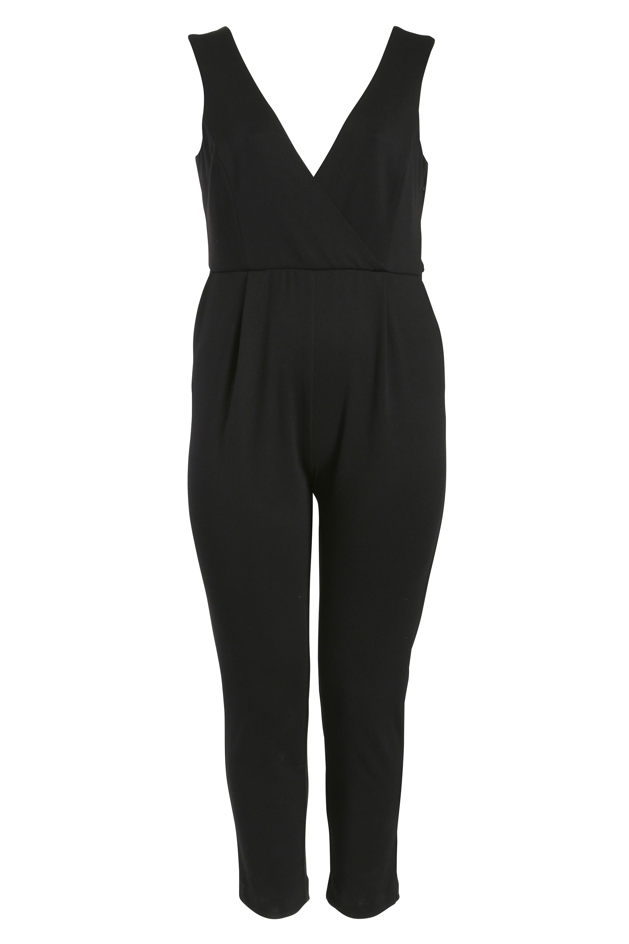 Threads Threads Wrap Over Jumpsuit, Black