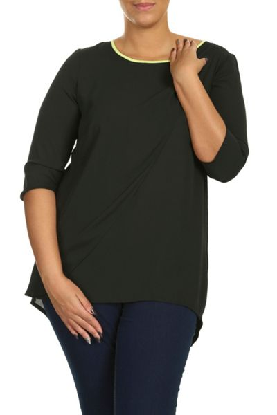 Threads Plus Size Zip Back Layer Top