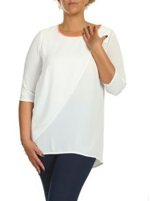 Plus Size Zip Back Layer Top