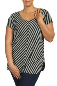 Threads Plus Size Split Sleeve Chevron Tee