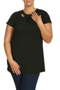 Plus Size Cut Out Tee
