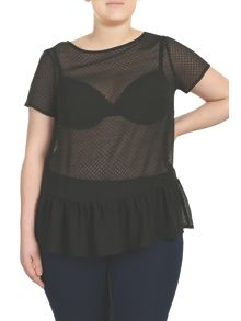 Threads Plus Size Textured Peplum Tee