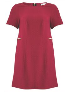 Threads Plus Size Zip Detail Shift Dress