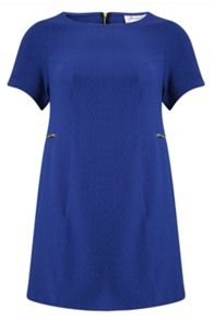 Plus Size Zip Detail Shift Dress