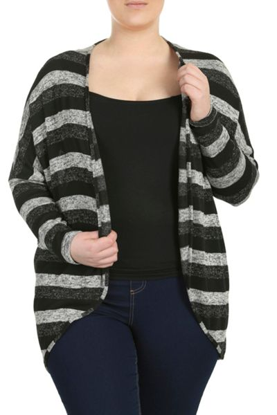 Threads Plus Size Cocoon Cardigan