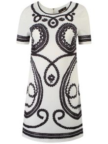 Nathalie Rope Print Dress